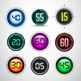 Master Modern colorful digital timer - stopwatch Stock Photo