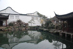 The Master-Of-Nets Garden. Is one of the four famous gardens in Suzhou, which has also won the titles of world cultural heritage site, a scenic spot of national stock photos