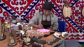 Master Paints Patterns Souvenirs stock video