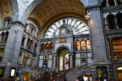 Master peace in central station  Antverpen Stock Images