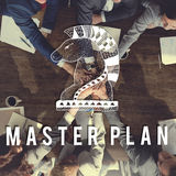 Master Plan Design Operations Planning Process Concept Royalty Free Stock Image