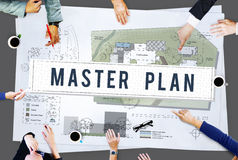 Master Plan Management Mission Performance Concept Royalty Free Stock Photography