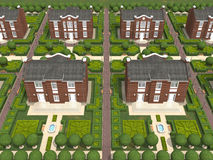 Master plan of the village Stock Images