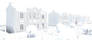 Master plan of the village Royalty Free Stock Image