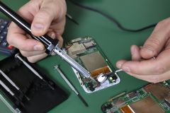 Phone repair chip Stock Photos