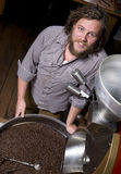 Master Roaster Smiles Cooling Coffee Product Stock Photo