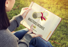Master's Degree Knowledge Education Graduation Concept stock photography