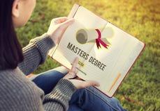 Master`s Degree Knowledge Education Graduation Concept. Master`s Degree Knowledge Education Graduation stock photos