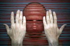 Master's hands. Weaver's portrait Stock Illustration