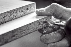 Master screwdriver tightening the screws Stock Photos