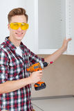 Master with screwdriver Royalty Free Stock Photography