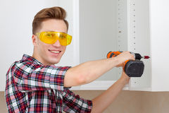 Master with screwdriver Stock Image