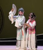 """Master and servant Cui Yingying-Kunqu Opera """"the West Chamber"""". In May 17, 2015, the Suzhou Kunqu opera classic Kunqu Opera Xixiangji staged in nanchang.The Royalty Free Stock Images"""