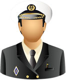 Master of a ship. Master of a transport or navy ship Royalty Free Stock Photos