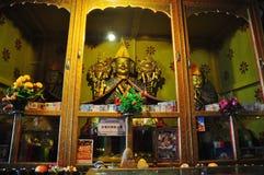 Master Tsong Khapa Statue in Drepung Monastery Stock Photo