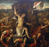 Master of the Twelve Apostles: Resurrection. Old Masters Collection, Croatian Academy of Sciences, December 08, 2014 in Zagreb, Croatia Stock Photos