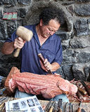 Master Woodcarver Stock Images