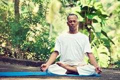 Master of yoga in india. Stock Photo