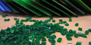 Masterbatch verde Fotografie Stock