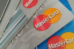 MasterCard πιστωτικές κάρτες στοκ φωτογραφίες με δικαίωμα ελεύθερης χρήσης