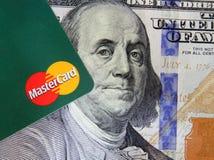 Mastercard στα χρήματα Στοκ Φωτογραφίες