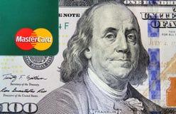 Mastercard στα χρήματα Στοκ εικόνες με δικαίωμα ελεύθερης χρήσης