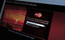 MasterCard.com main internet page Royalty Free Stock Photography