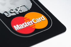 Mastercard Credit Card. Muenster, Germany - April 9, 2011: A close up macro shot of a Mastercard credit card. Mastercard is one of the biggest credit card Stock Photography