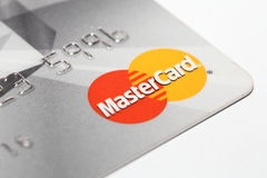 Mastercard logo on credit card Stock Photography