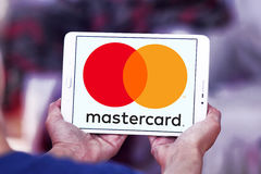 Mastercard logo Royalty Free Stock Photos