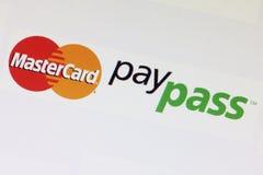 Mastercard Paypass logo Stock Photography