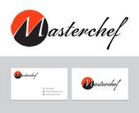 Masterchef logo stock illustrationer