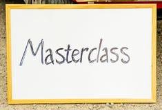 masterclass ramowy tekst Zdjęcia Royalty Free
