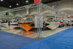 Mastercraft stand boats on display Royalty Free Stock Images