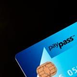 Masterdard PayPass de la tarjeta de crédito imagen de archivo