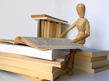 Mastering. Issolated books with dummy on white background stock photo