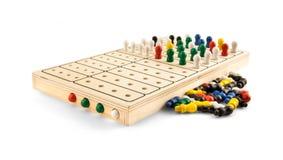 Mastermind - Wooden Brain Teaser Game - on white Royalty Free Stock Photos