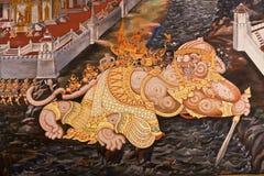Masterpiece Ramayana painting Royalty Free Stock Photography