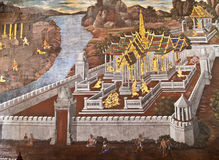 Masterpiece Ramayana painting Royalty Free Stock Images
