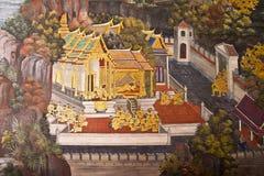 Masterpiece Ramayana painting Royalty Free Stock Image