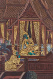 Masterpiece of traditional Thai style painting art Stock Image