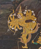Masterpiece of traditional Thai style painting art stock photography