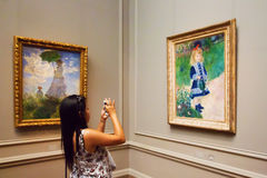 Masterpieces in National Gallery of Washington Stock Photography