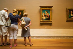 Masterpieces by Raphael in National Gallery of Washington Stock Image