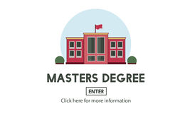 Masters Degree Education Knowledge Concept Royalty Free Stock Photography
