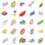 Mastery icons set, isometric style. Mastery icons set. Isometric set of 25 mastery vector icons for web isolated on white background Stock Photo