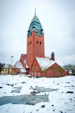 Masthugg church in winter, Gothenburg, Sweden, HDR photo royalty free stock images