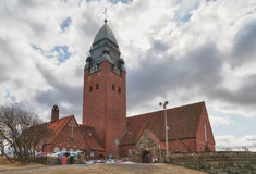Masthugget Church on background of clouds Stock Photography