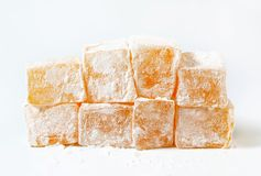 Mastic-flavored jelly cubes (Greek Turkish delight) Stock Photos