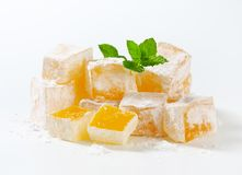 Mastic-flavored jelly cubes (Greek Turkish delight) Royalty Free Stock Photography